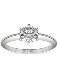 补贴购、银联返现购:Blue Nile 0.74克拉圆形切割钻石+ 经典6爪单石戒托