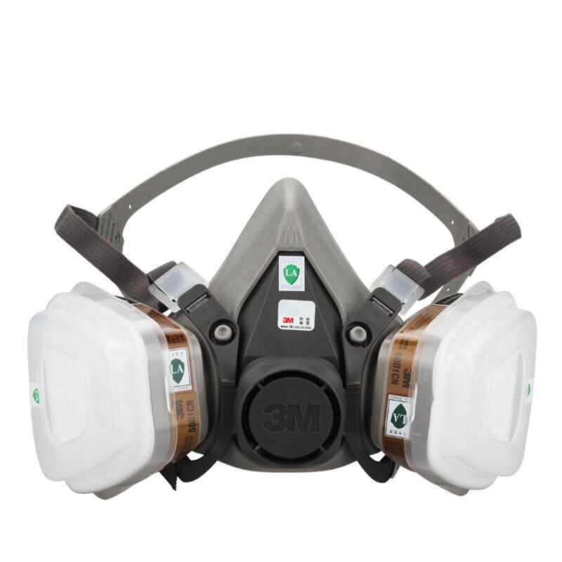 3M 3M™6200系列 6912504227958 尘毒呼吸防护面具 灰白