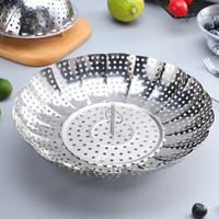 美厨创意可伸缩不锈钢蒸架可折叠多功能蒸盘蒸笼蒸格蒸屉蒸片
