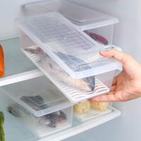 2个装大容量海鲜保鲜盒沥水保鲜盒蔬菜冰箱冷藏储物冰箱收纳盒盒