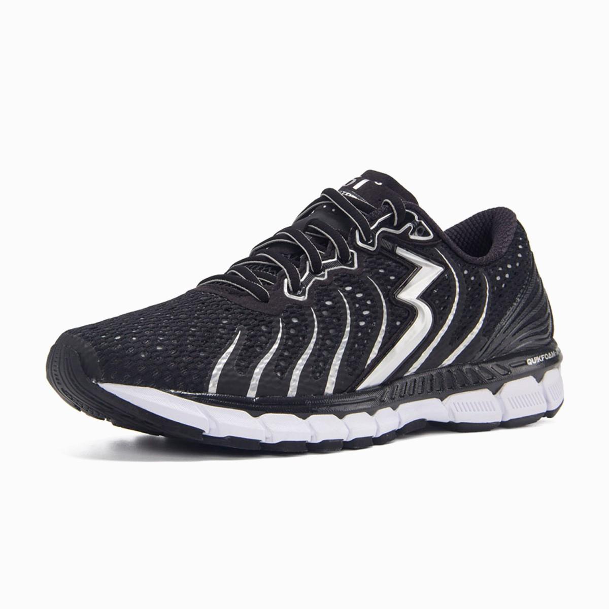 361° 男士跑鞋 Y711-1 黑色/银白色 39