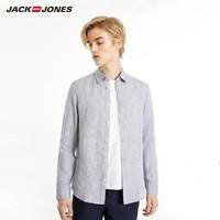 JackJones 杰克琼斯  219105522 男士亚麻衬衫
