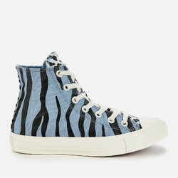Converse 匡威 1970s 蓝黑斑马条纹 高帮鞋