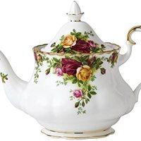 Royal Albert 古老王国玫瑰茶壶,0.8Ltr,白色,M / S,中国骨