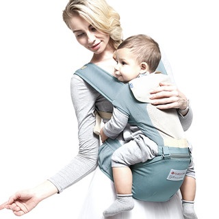 BabyCare 9821lan 婴儿多功能透气背婴带 薄荷蓝