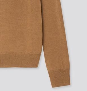 UNIQLO 优衣库 女士羊毛圆领长袖针织衫428855