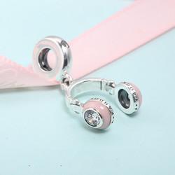 PANDORA 潘多拉 797902EN160 粉色耳机串饰