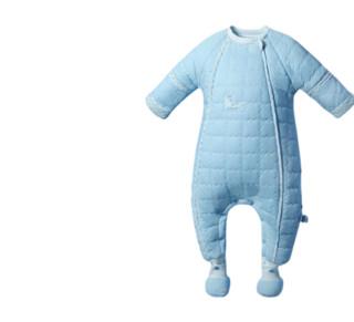 L-LIANG 良良 婴儿分腿式夹棉睡袋 蓝色 75cm
