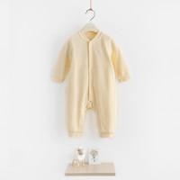 【草珊瑚系列】宝宝长袖对襟连体衣 婴儿保暖家居爬服