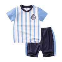 婴儿幼童夏款男童宝宝短袖圆领套套装