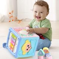 XIAOBEIXIONG 小贝熊 婴儿六面体多功能音乐智立方手拍鼓