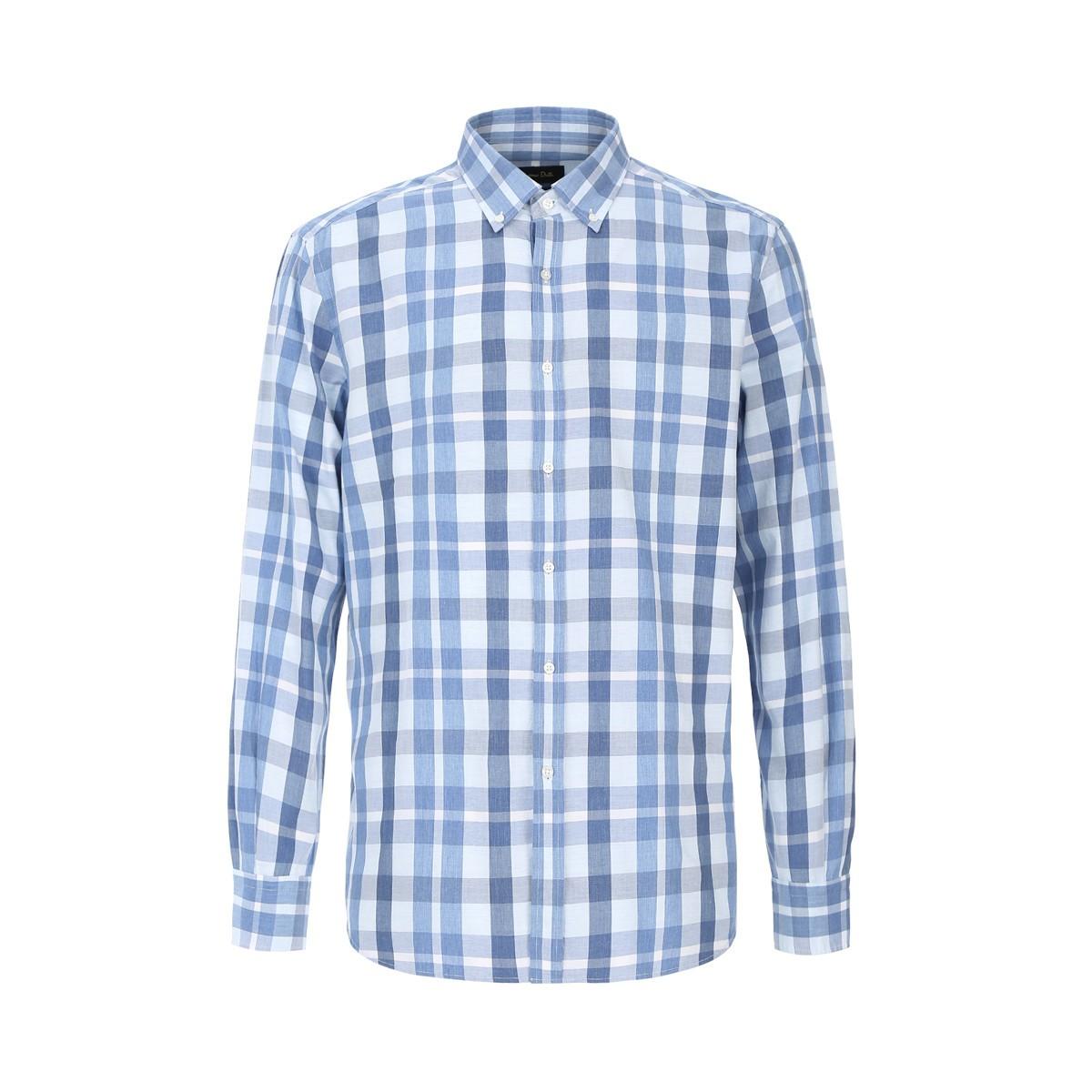 Massimo Dutti 14242400 男款格子长袖衬衫