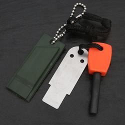 万马堂 多功能打火石 户外生存取火镁棒 打火棒镁块 野外求生装备 红柄款打火石送口哨
