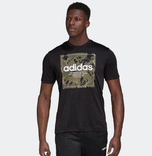 adidas 阿迪达斯 官网 adidas 男装夏季圆领印花训练运动短袖T恤GD5877