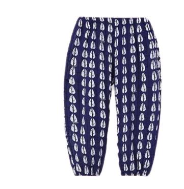 CLASSIC TEDDY 精典泰迪 儿童夏季薄款树叶防蚊长裤 深蓝色 80cm