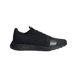 adidas 阿迪达斯 Sense Boost Go 中性跑鞋 EH1020 黑色/暗金属 37