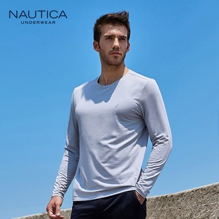NAUTICA 诺帝卡 NCTS050570 男士圆领长袖T恤