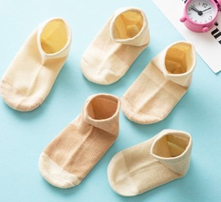 Nan ji ren 南极人 婴儿彩棉四季袜五双装 多色 M