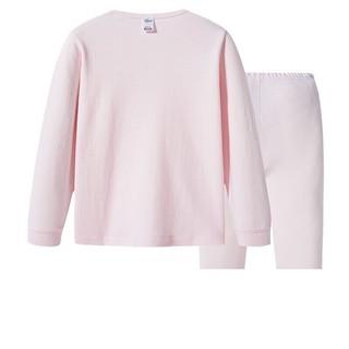 THREEGUN 三枪 女童纯棉圆领内衣套装 28822D1 浅粉色 160cm