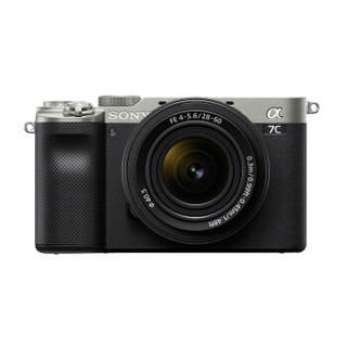 SONY 索尼 Alpha 7C 全画幅微单相机 标准镜头28-60mm套装 银色