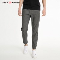 JACK JONES 杰克琼斯 219114563 纯棉格纹商务休闲裤