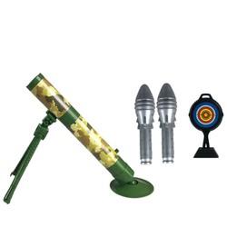 熊山谷 灯光迫击炮玩具 主体+闪光炮*2+带标靶平底锅