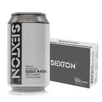 赛克斯盾(Sexton)苏打汽水 苏打水汽水饮料 气泡水 弱碱性水 调酒净饮 0糖0卡路里 330ml*24罐 整箱装 *5件