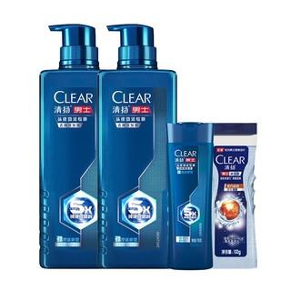 CLEAR 清扬 男士头皮劲能瓶专研洗发水 570g(赠570g+旅行装100g*2)