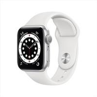 Apple 苹果 Apple Watch Series 6 智能手表 40mm GPS款 银色铝金属表壳 白色运动型表带 (血氧、GPS、扬声器)