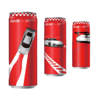Coca-Cola 可口可乐 亚洲保时捷卡雷拉杯联名 碳酸饮料 330ml*3罐