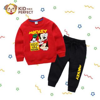 kopke 科普克 儿童卫衣套装卡通四格米奇
