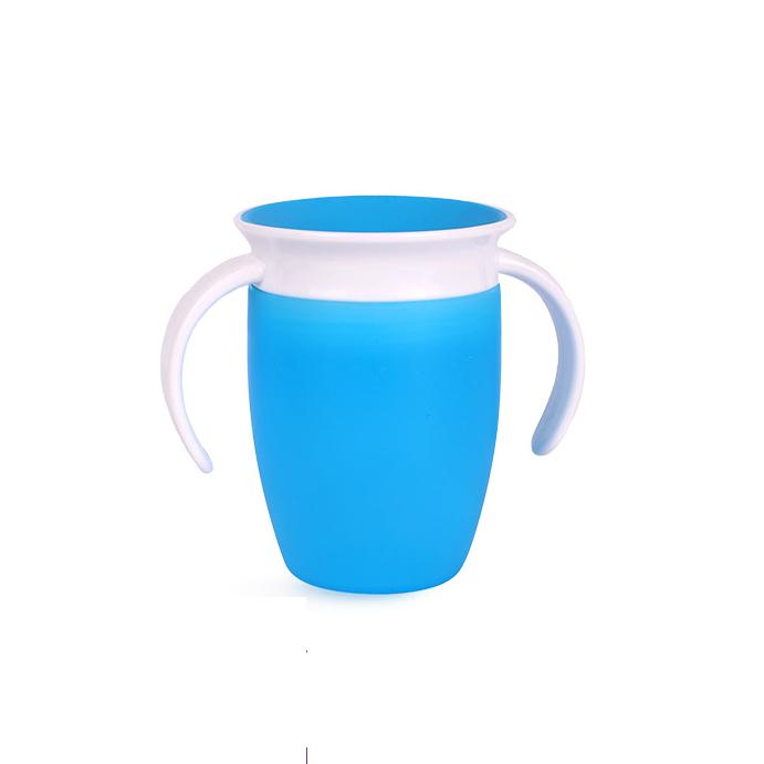 munchkin 满趣健 儿童360度防漏学饮魔术杯 蓝色 207ml