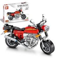 森宝积木 越野小摩托车兼容乐高拼装积木玩具模型儿童玩具6岁积械密码系列 本钿CB750摩托