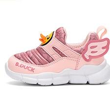 B.Duck 儿童网面透气休闲运动鞋 B3182947 粉色 22码