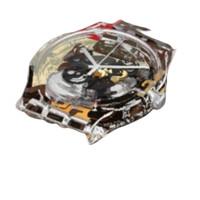 SWATCH 斯沃琪 ASUOK136-1 中性手表 圆盘镂空 硅胶白色 圆形