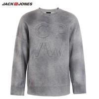 JackJones 杰克琼斯 219133528 男士立体字母设计长袖卫衣