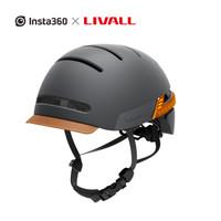 Insta360 力沃BH51M城市通勤头盔 LIVALL骑行自行车摩托车山地车智能蓝牙头盔装备 黑色