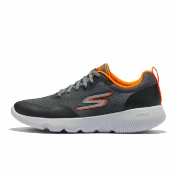SKECHERS 斯凯奇 Go Run Focus 男士跑鞋 55169-CCOR 炭灰色/橘色 42