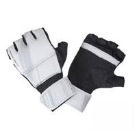 DECATHLON 迪卡儂 100系列 有氧拳擊露指手套 302881-8545449 淺白堊灰/黑色