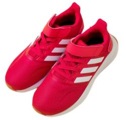 adidas 阿迪达斯 女童网面透气休闲运动鞋 FW5140 粉色 28码