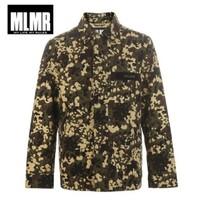 MLMR 219121585 男士迷彩贴布字母装饰夹克