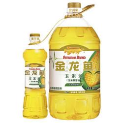 金龙鱼 玉米油(玉米胚芽油) 5L(捆绑小油)