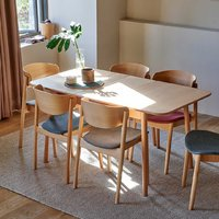 样子生活 103°系列 环抱拉伸餐桌椅 一桌四椅