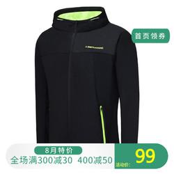 361度男子针织图案 保暖单风衣361综训运动字母防风服运动服