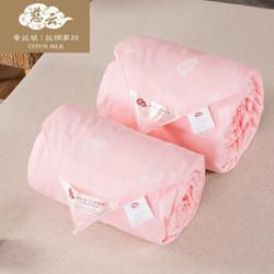 慈云蚕丝被100%桑蚕丝被  空3+5斤 粉色100%桑蚕丝长丝-净重3+5斤 200*230cm