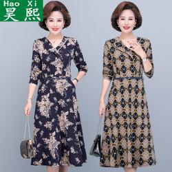 昊熙 1042-290-58 洋气妈妈长袖连衣裙