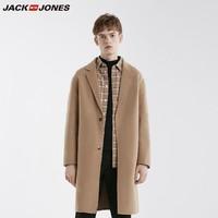 JACK JONES 杰克琼斯 219127502 羊毛混纺大衣