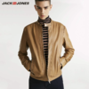 JACK JONES 杰克琼斯 219110502 绵羊皮革立领皮衣