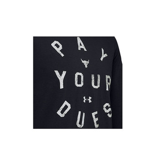 UNDER ARMOUR 安德玛 男士运动T恤 1346100-001 黑色 S
