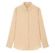 UNIQLO 优衣库 女士花式翻领条纹衬衫430813 米色M